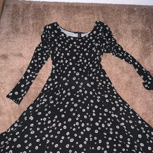 Black Daisy Dress with tie back.